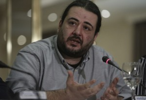 Ο γραμματέας της κεντρικής επιτροπής του ΣΥΡΙΖΑ Τάσος Κορωνάκης μιλάει στο συμβούλιο προέδρων του ΚΕΑ (Κόμματος Ευρωπαϊκής Αριστεράς), Αθήνα Σάββατο 14 Μαρτίου 2015.  ΑΠΕ-ΜΠΕ/ΑΠΕ-ΜΠΕ/ΓΙΑΝΝΗΣ ΚΟΛΕΣΙΔΗΣ