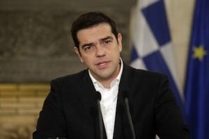 Ο πρωθυπουργός Αλέξης Τσίπρας  με τον Πρόεδρο του Ευρωπαϊκού Κοινοβουλίου Μάρτιν Σουλτς (δεν εικονίζεται), κάνουν δηώσεις μετά την συνάντησή τους, στο Μέγαρο Μαξίμου, Αθήνα Πέμπτη 29 Ιανουαρίου 2015. Ο Μάρτιν Σουλτς βρίσκεται στην Αθήνα σε μονοήμερη επίσκεψη πριν να επισκεφθεί το Βερολίνο.  ΑΠΕ ΜΠΕ/ΑΠΕ ΜΠΕ/ΟΡΕΣΤΗΣ ΠΑΝΑΓΙΩΤΟΥ