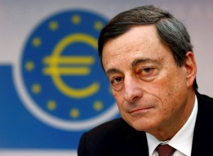 Mario Draghi, President of the European Central Bank (ECB) , addresses the media during his monthly news conference in Frankfurt, March 7, 2013. Draghi announced that the ECB leaves the interest rates unchangendREUTERS/Kai Pfaffenbach (GERMANY - Tags: BUSINESS)