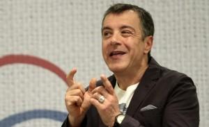 Journalist and TV presenter Stavros Theodorakis presented the new party, called the River,  at a press conference in Athens on March 4, 2014 / Ðáñïõóßáóç ôïõ êüììáôïò ôïõ Óôáýñïõ ÈåïäùñÜêç, Ôï ÐïôÜìé