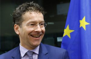 Eurogroup chairman and Dutch Finance Minister Dijsselbloem arrives to testify before the EU Parliament's Economic and Monetary Affairs Committee in Brussels