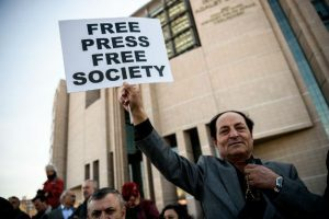 Turkey-media-press-freedom-man-protester-democracy-free-speech-journalists