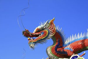 Chinese traditional dragon -horizontal view
