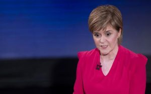 "In a handout picture released by STV on April 7, 2015, Leader of the Scottish National Party (SNP), Nicola Sturgeon takes part in the ""Scotland Debates"" STV event in Edinburgh on April 7, 2015.  RESTRICTED TO EDITORIAL USE - MANDATORY CREDIT  "" AFP PHOTO / STV / GRAEME HUNTER""  -  NO MARKETING NO ADVERTISING CAMPAIGNS   -  DISTRIBUTED AS A SERVICE TO CLIENTSGRAEME HUNTER/AFP/Getty Images"