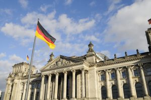 Front view of the Reichstag, Berlin, Germany