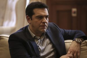 Meeting between the Prime Minister of GreeceAlexis Tsipras, and the mayor of Piraeus Yiannis Moralis,in Maximos Mansion, Athens, on Feb. 11, 2016 / Συνάντηση του Πρωθυπουργού Αλέξη Τσίπρα με τον δήμαρχο Πειραιά, Γιάννη Μώραλη, στο Μέγαρο Μαξίμου, Αθήνα, στις 11 Φεβρουαρίου, 2016