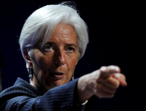 International Monetary Fund (IMF) President Christine Lagarde speaks during a news conference on the second day of the G20 Summit in Cannes November 4, 2011.       REUTERS/Dylan Martinez (FRANCE  - Tags: POLITICS BUSINESS)