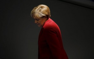 German Chancellor Angela Merkel attends a debate at the Bundestag, the lower house of parliament, in Berlin, Germany in this March 19, 2015 file photo. To match Special Report EUROZONE-GREECE/NEGOTIATIONS    REUTERS/Fabrizio Bensch/Files