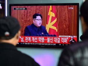North Korean leader Kim Jong-Un delivers his New Year's speech on Jan. 1. The country announced late Tuesday that it had tested a hydrogen bomb.