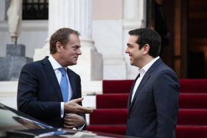 Meeting between the Prime Minister of Greece, Alexis Tsipras, and the President of the European Council Donald Tusk, in Athens, on Feb. 16, 2016 / Συνάντηση του Πρωθυπουργού Αλέξη Τσίπρα με τον Πρόεδρο του Ευρωπαϊκού Συμβουλίου Ντόναλντ Τουσκ, στην Αθήνα, στις 16 Φεβρουαρίου, 2016