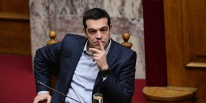 Greek Prime Minister Alexis Tsipras attends the vote for president at the Greek parliament in Athens on February 18, 2015.  Greece's parliament on February 18 elected pro-European conservative Prokopis Pavlopoulos as the country's new president, a move calculated to bolster the hard-left government in its critical EU bailout talks. AFP PHOTO / LOUISA GOULIAMAKI        (Photo credit should read LOUISA GOULIAMAKI/AFP/Getty Images)