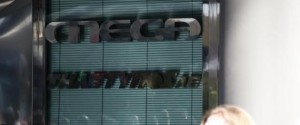 Demonstration by laid off employees of Mega Channel TV station, outside its headquarters, in Athens, on Dec. 29, 2015 / ??????????? ?????????? ??????????? ??? Mega Channel ??? ??? ?? ???????? ???????? ??? ???????, ???? ?????, ???? 29 ??????????, 2015