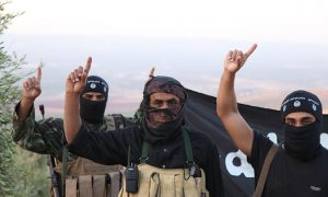Isis soldiers in Syria