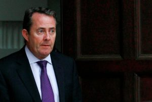 Britain's Defence Secretary Liam Fox leaves his residence in central London October 13, 2011.   REUTERS/Suzanne Plunkett/File Photo