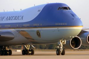 Air Force One arrives at Andrews Air Force Base, Md., on Sept. 11, 2001, with President George W. Bush on board. The president was in Florida when the terrorist attacks on the Pentagon, the World Trade Center in New York City, and in Pennsylvania too place. According to the Air Mobility Command History Office, tankers refueled fighters providing cover for Air Force One as the president moved from Florida. By Sept. 12, tankers also flew air refueling missions for the E-4B National Airborne Operations Center, the president's airborne command and control center. (U.S. Air Force Photo)