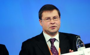 Valdis Dombrovskis, prime minister Latvia at the Baltic Development Forums summit in Stockholm 2009.