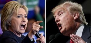 Democratic presidential candidate Hillary Clinton (L) and Republican presidential candidate Donald Trump are seen in a combination of file photos taken in Henderson, Nevada, February 13, 2016 (L) and Phoenix, Arizona, July 11, 2015. REUTERS/David Becker/Nancy Wiechec/Files
